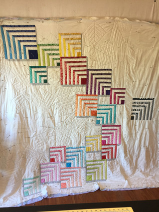 The Very Large Quilt (Or:How I Finally Quit Hoarding and Actually Used My Allison Glass Fabrics)