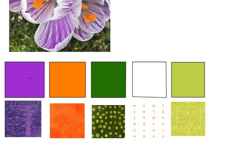 My first Color Play Friday (Crocus) ever (and the winner of the orange bundle, too!)