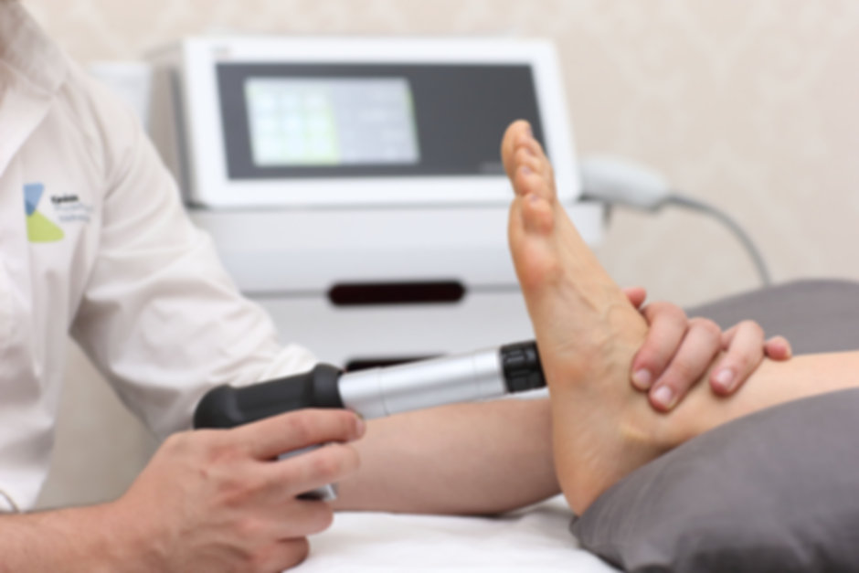 Shockwave therapy for plantar fasciitis. Kinesis physiotherapy & wellness clinic