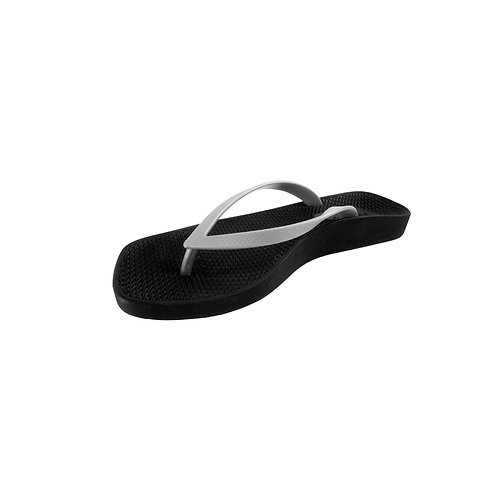 ARCHLINE BREEZE ORTHOTIC FLIP FLOPS – BLACK/SILVER