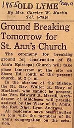 Saint Ann's ground breaking 1955