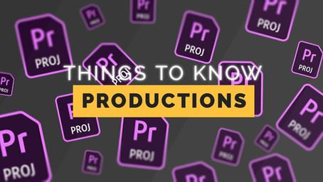 טיפים לשימוש ב-Productions בפרמייר פרו