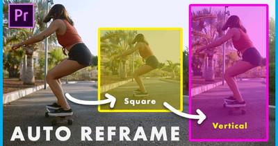 שימוש ב-Auto Reframe בפרמייר פרו