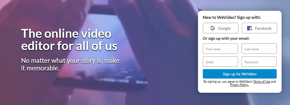 WeVideo - עריכת וידאו אונליין