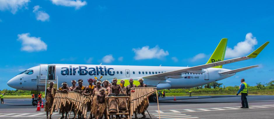 airBaltic noslēdz Airbus A220 turneju pa Klusā okeāna reģionu