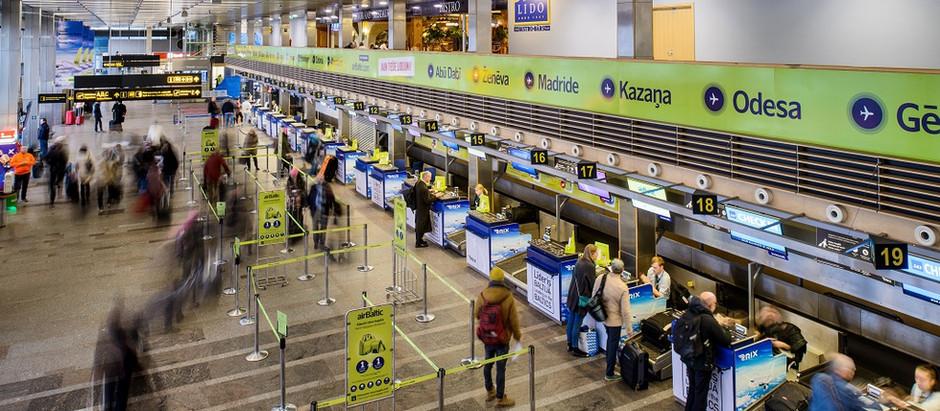 """Lidosta """"Rīga"""" gadu noslēdz ar pasažieru skaita kritumu par vairāk nekā 74%"""