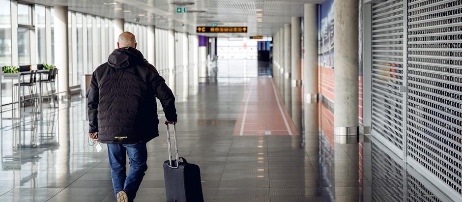 """Lidosta """"Rīga"""" gadu sāk ar pasažieru skaita kritumu par vairāk nekā 90%"""
