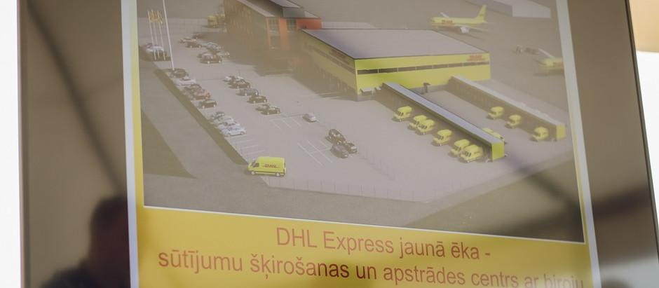 """Lidostā """"Rīga"""" uzsāk modernākā Baltijā ekspress kravu apstrādes centra būvniecību"""