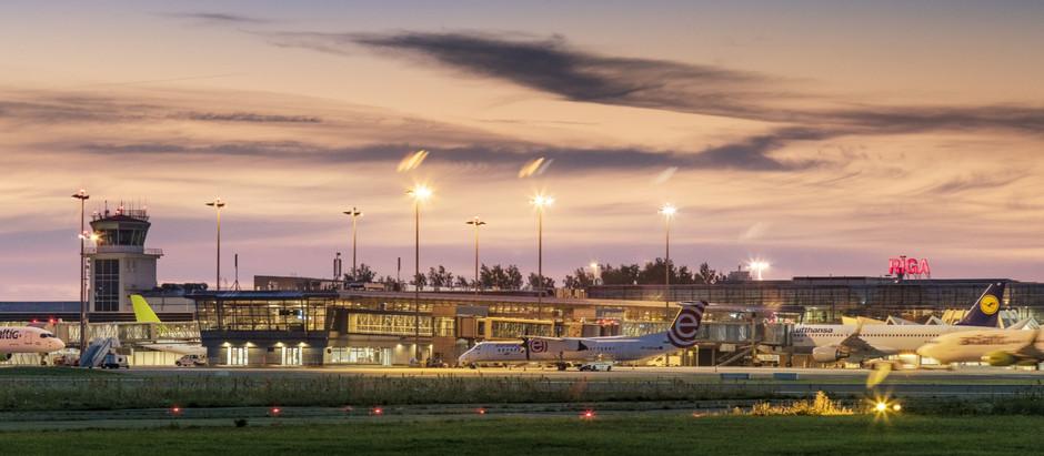 """Lidosta """"Rīga"""" atsāk lidojumus paaugstinātas epidemioloģiskās drošības apstākļos"""