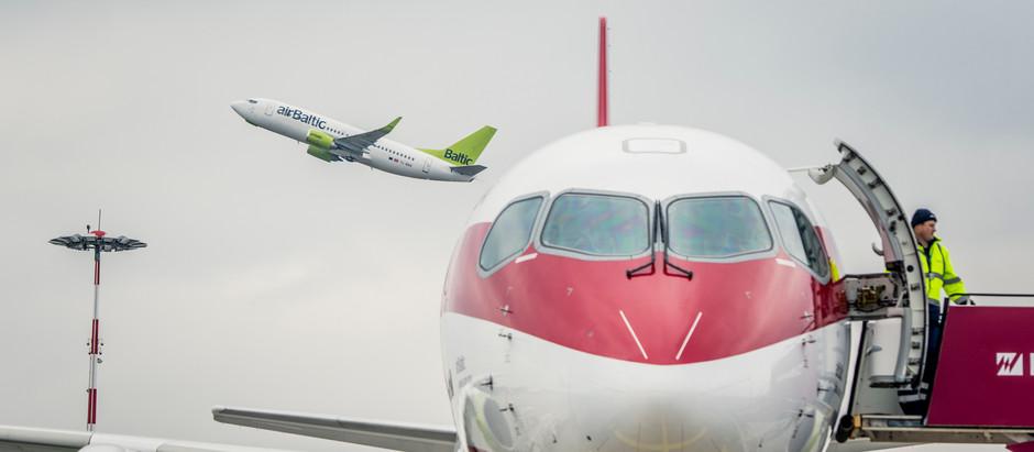 airBaltic 18.05.2020 atsāk lidojumus no Rīgas uz Tallinu un Viļņu