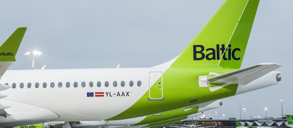 2020. gadā airBaltic pārvadājusi par 73% mazāk pasažieru
