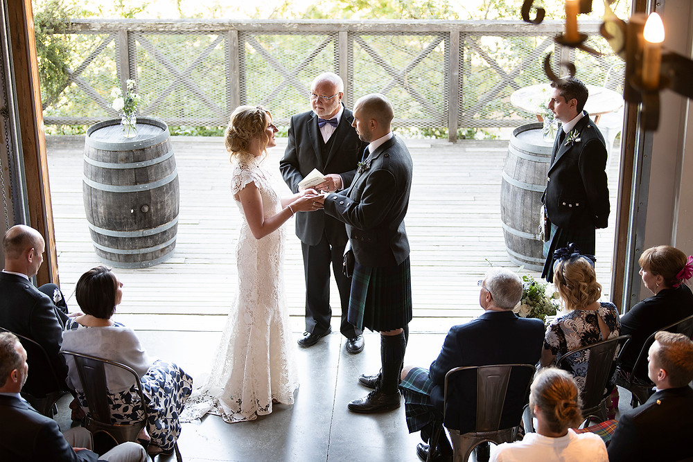 Sea Cider Victoria wedding ceremony. Photographed by Tofino photographer Kaitlyn Shea.