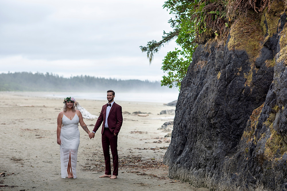 Tofino vow renewal at Long bEACH. photographed by Kaitlyn Shea.