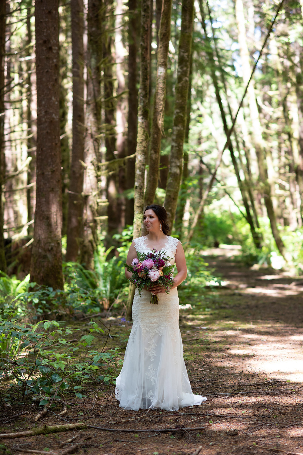 Forest wedding in Tofino. Photographed by Tofino photographer Kaitlyn Shea.