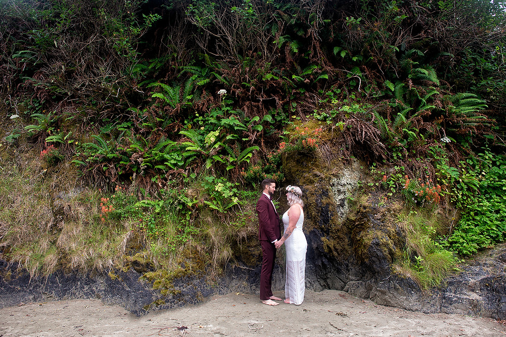Tofino vow renewal. Photographed by Tofino photographer Kaitlyn Shea.