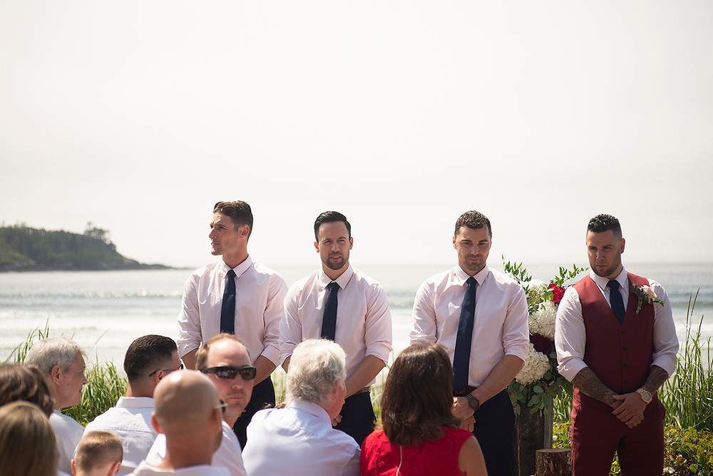 intimate destination beach wedding in Tofino at Long Beach Lodge. Photographed by Kaitlyn Shea