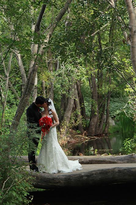 Couple Kissing at Tofino Wedding