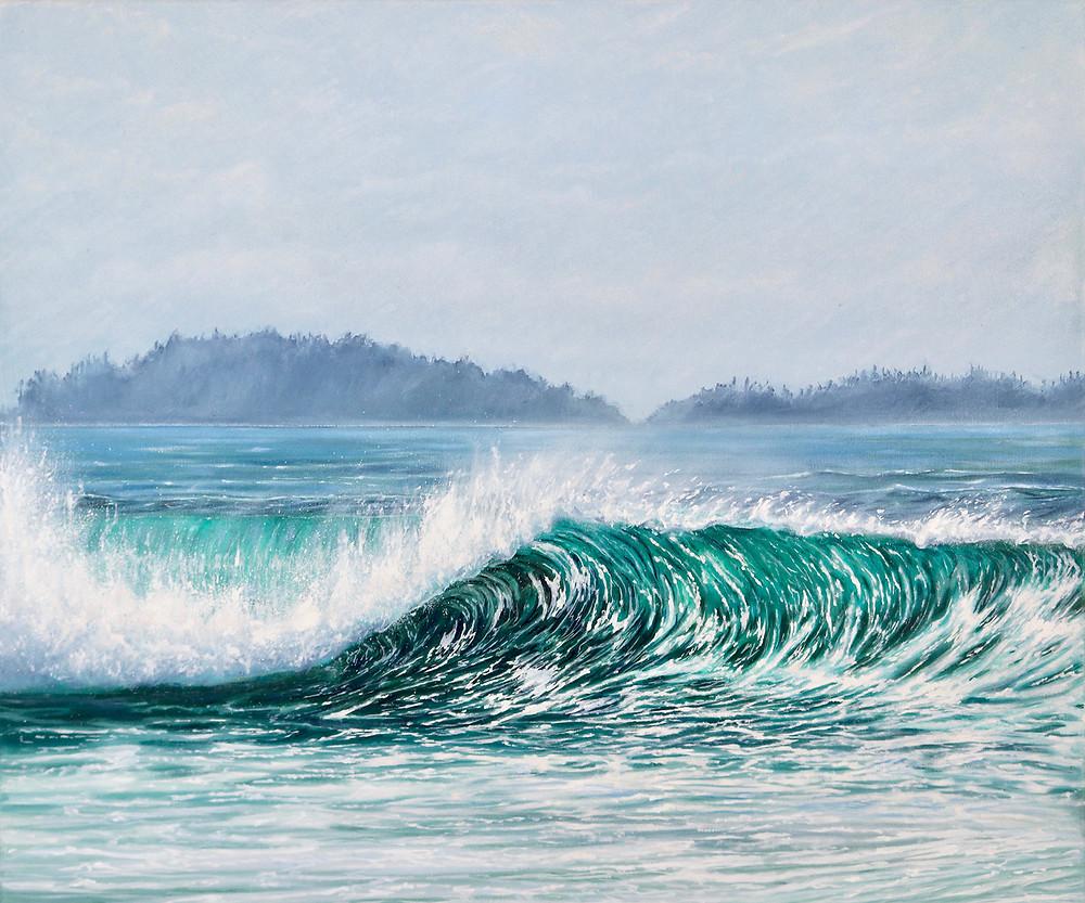 Original Oil Painting by Tofino artist Emma Paveley