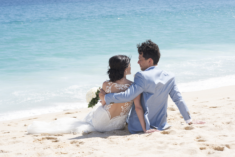 Couple Sitting on Beach Playa Grande