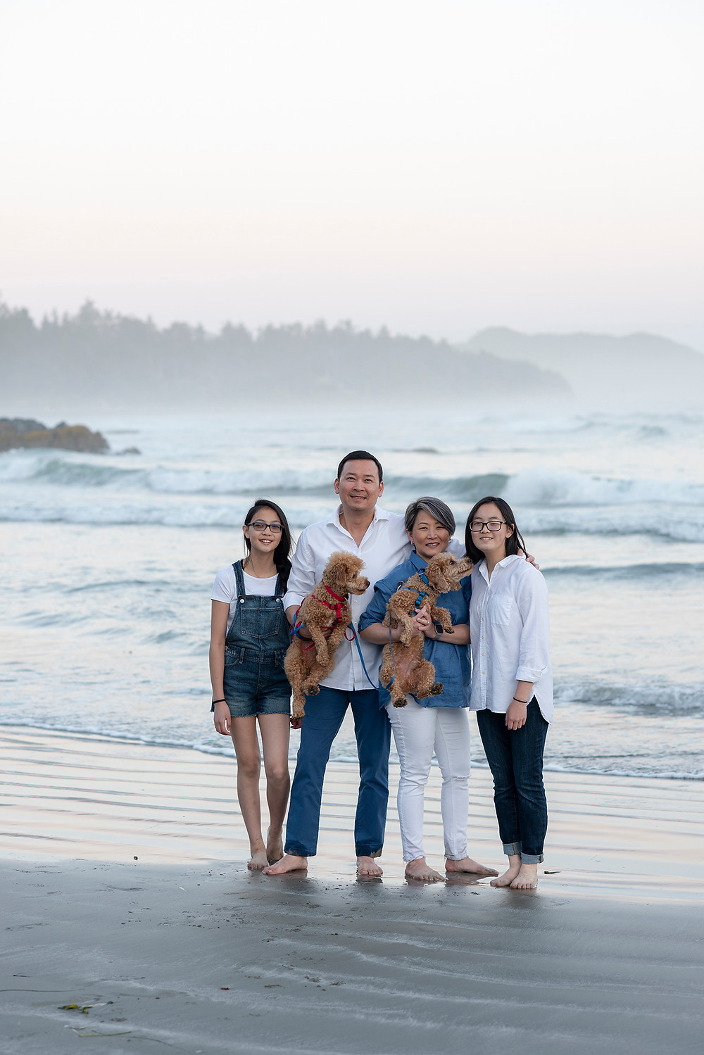 family pictures in Tofino