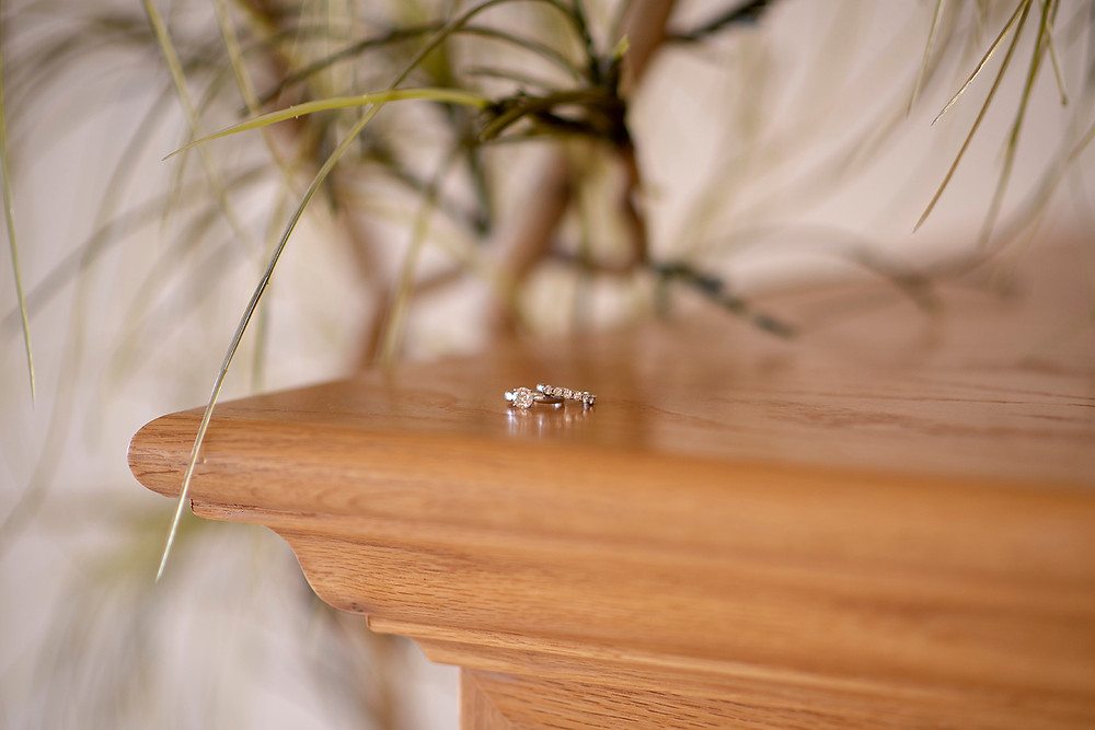 wedding rings at destination wedding in Tofino. Photographed by Kaitlyn Shea.