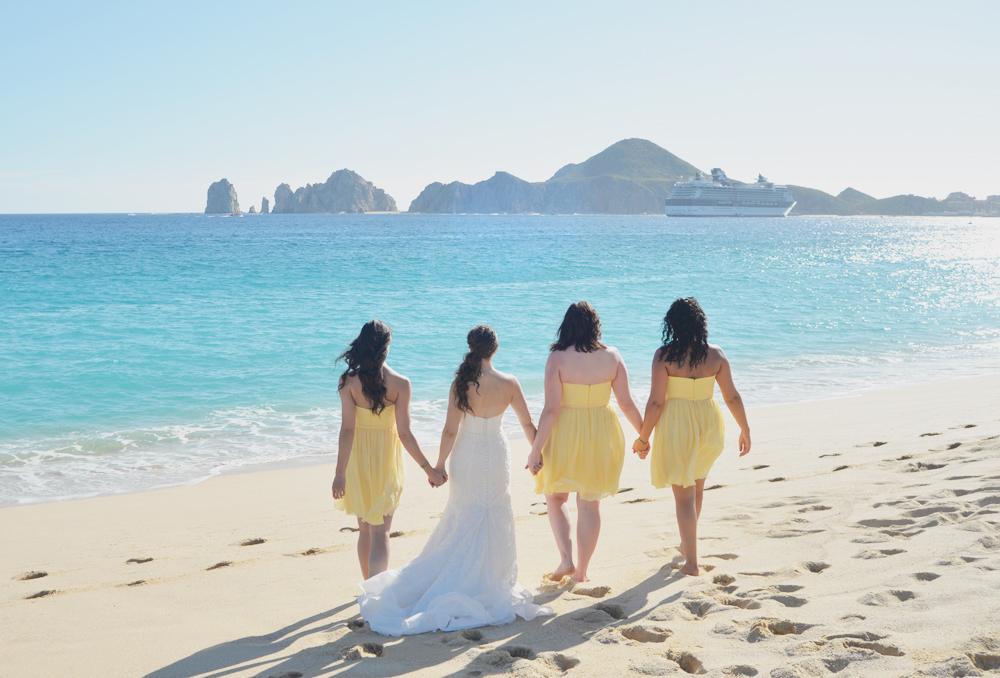 Bridesmaids on the Beach