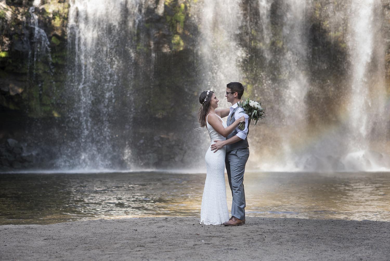 Waterfall Wedding in Tofino