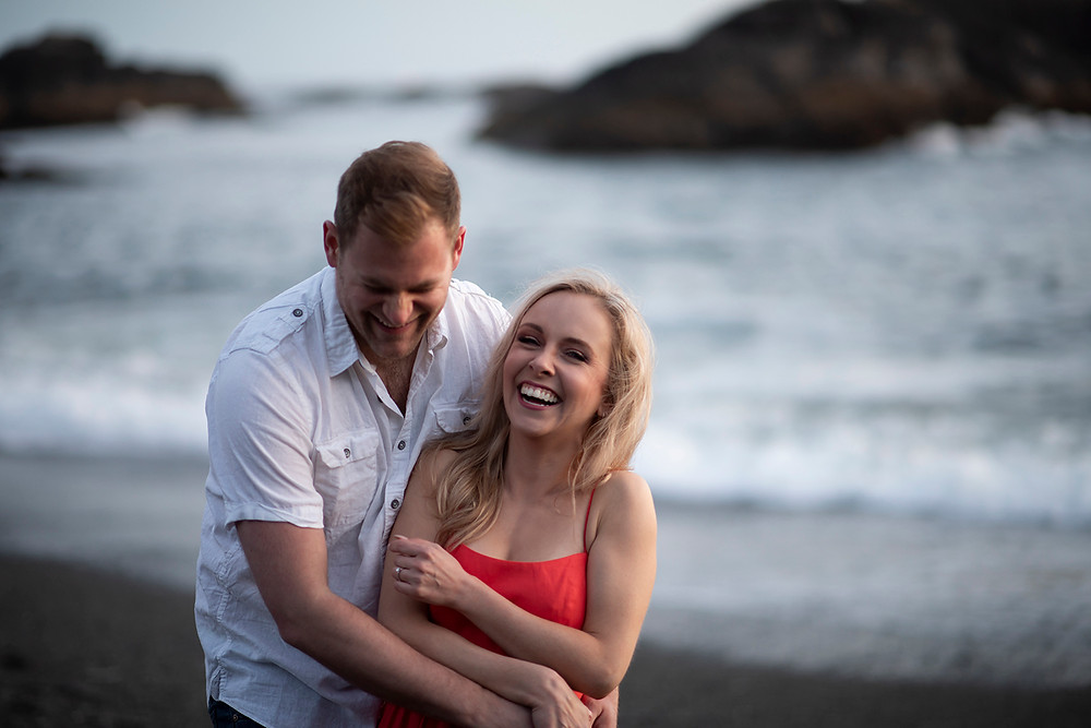 engagement photographer Tofino. Photographed by Kaitlyn Shea.