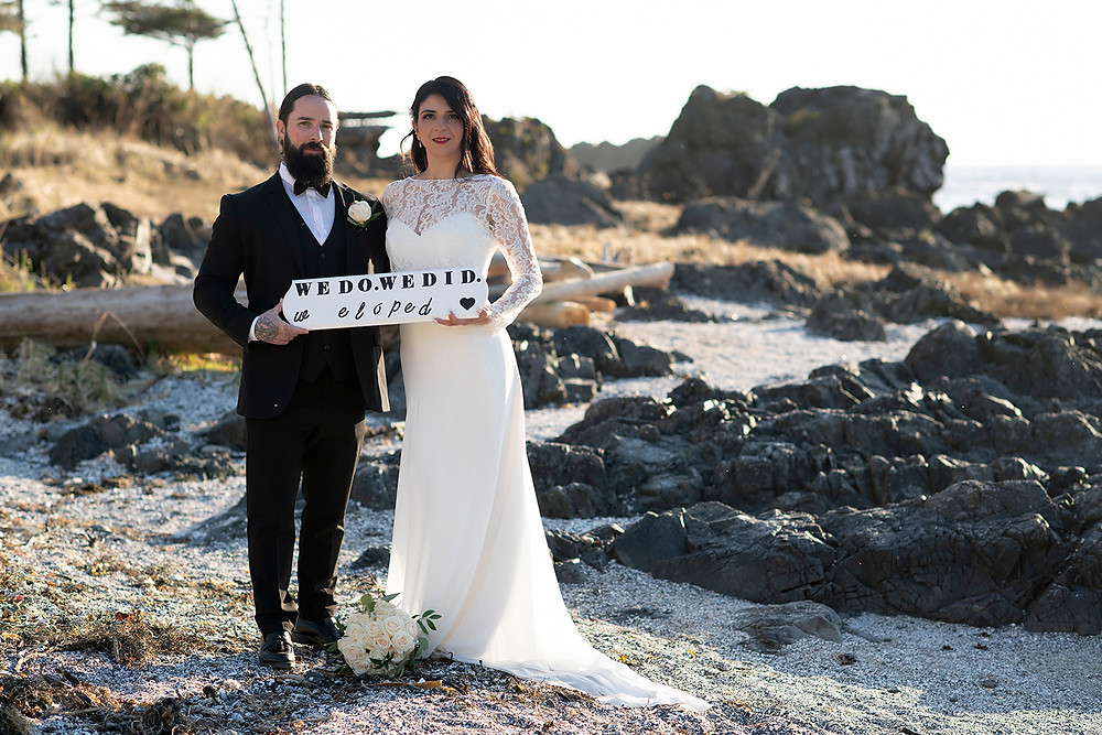 We do, we did. We eloped to Ucluelet. Photographed by Kaitlyn Shea.