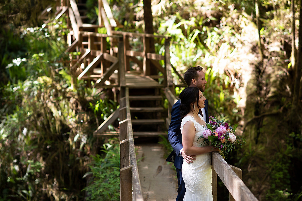 Getting married in the forest in Tofino. Photographed by Kaitlyn Shea.