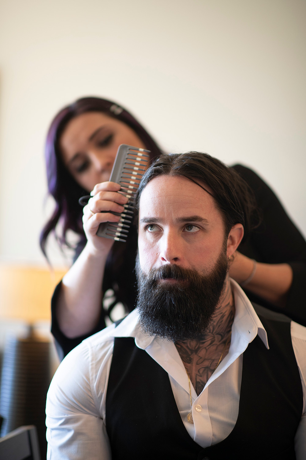 Groom gets ready before eloping in Ucluelet. Photographed by Kaitlyn Shea.