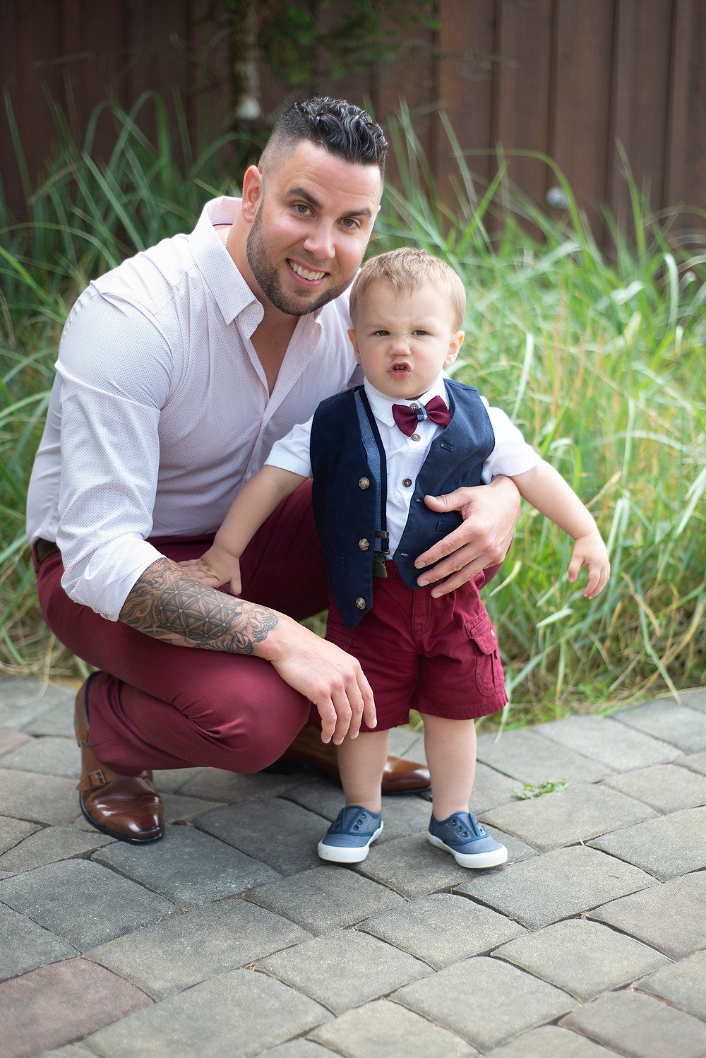 groom and son at Long Beach Lodge wedding in Tofino. Photographed by Kaitlyn Shea