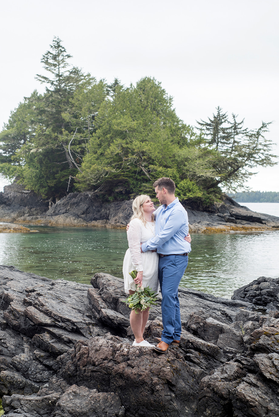 Tofino Elopement at MacKenzie Beach || Becky & Tom