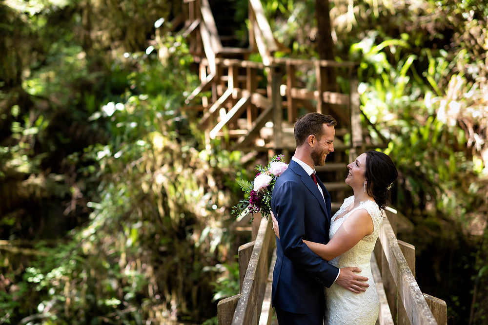 Forest wedding on Vancouver Island. Photographed by Tofino photographer Kaitlyn Shea.