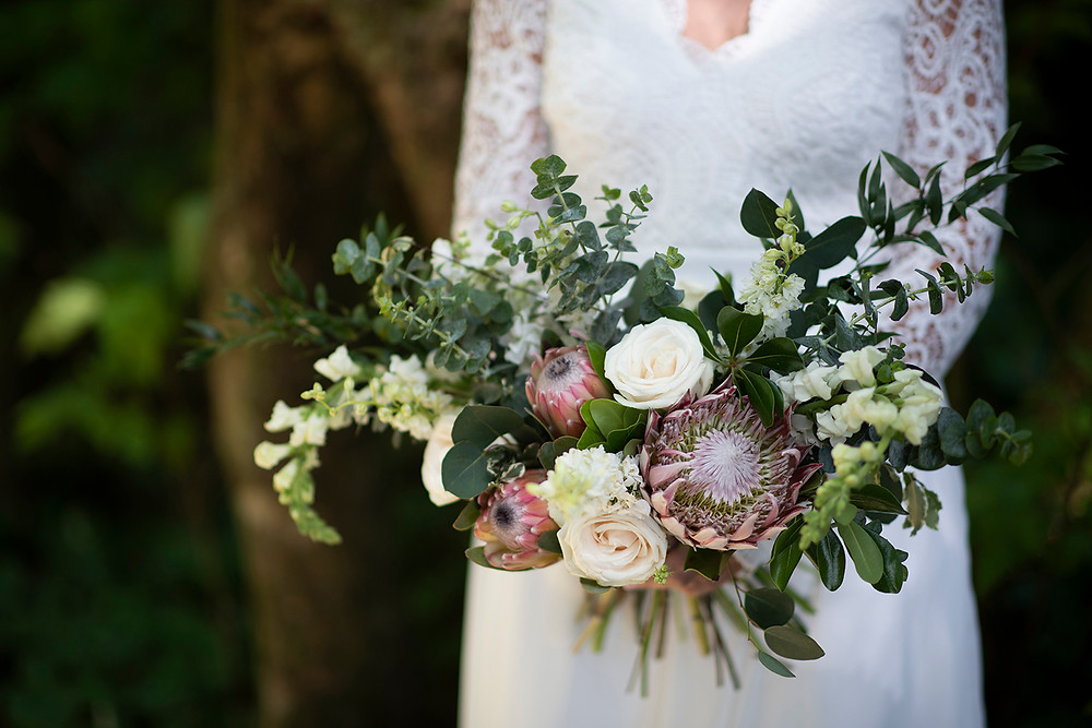 Wild Bloom bouquet in Tofino. Photographed by Kaitlyn Shea