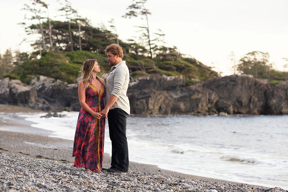 engagement photography Tofino. Photographed by Kaitlyn Shea
