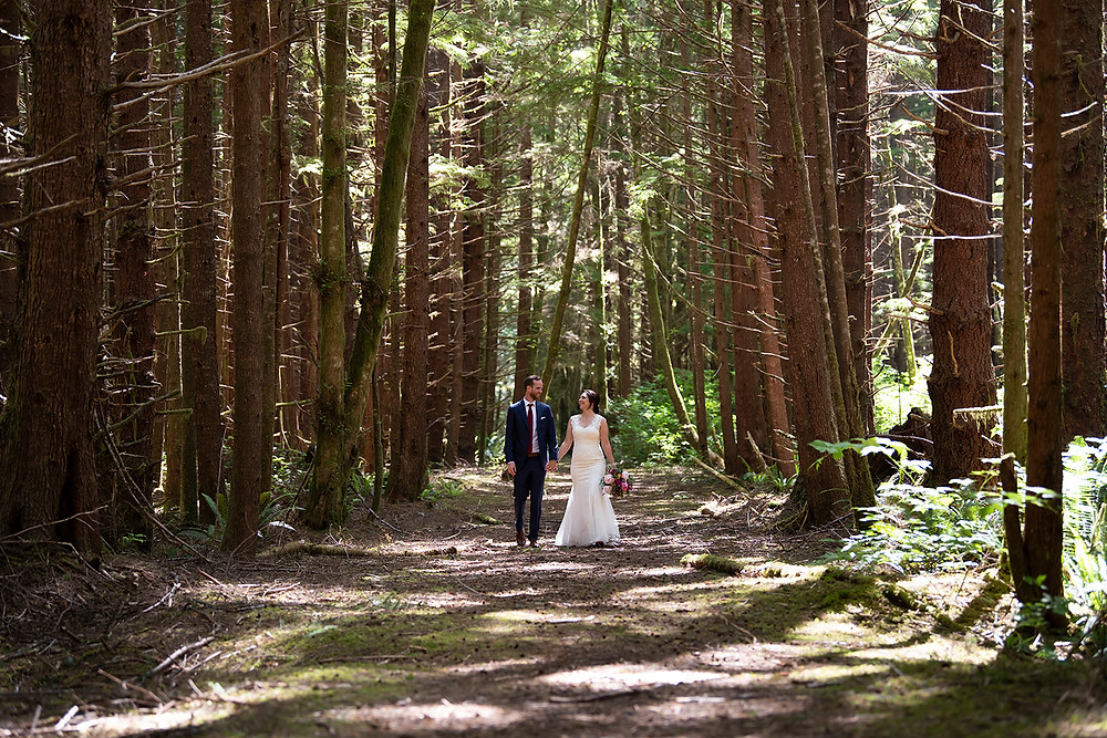 Magical forest wedding in Tofino BC. Photographed by Kaitlyn Shea.