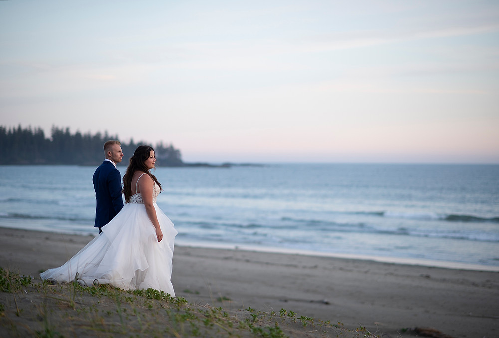 Wedding photographer in Tofino. Photographed by Kaitlyn Shea.