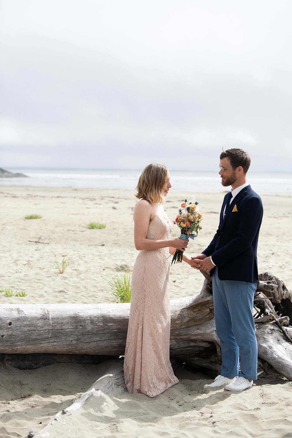 Eloping to Tofino. Photographed by Tofino wedding photographer Kaitlyn Shea.