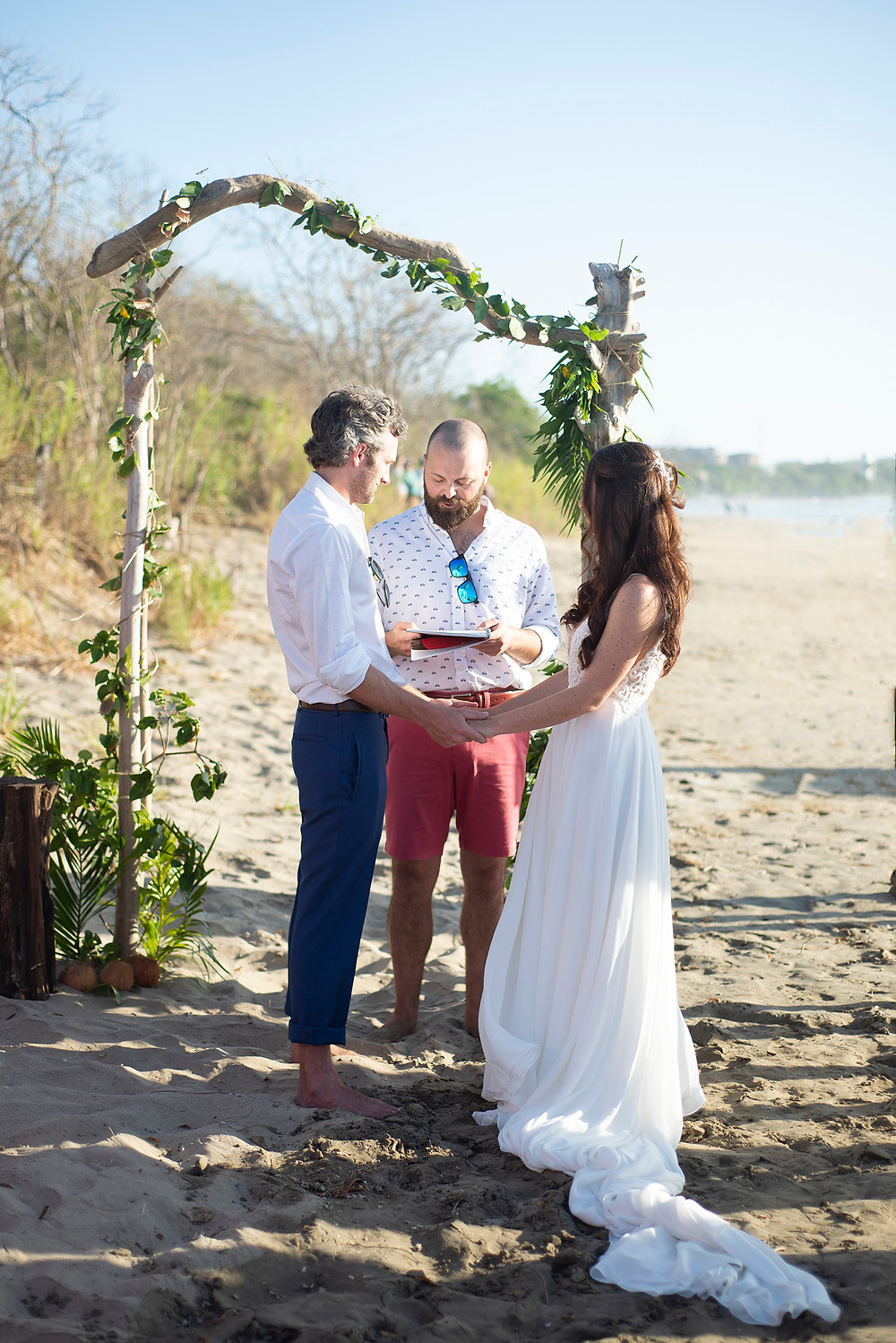 Destination wedding on the beach in Playa Grande, Costa Rica. Photographed by Kaitlyn Shea.