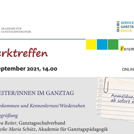Veranstaltungshinweis: NETZWERKTREFFEN GANZTAG. Schwerpunkt: Kursleiter/innen