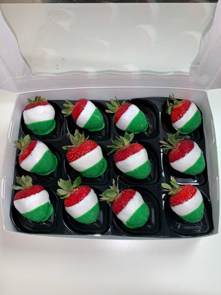 Mexican White Chocolate Strawberries