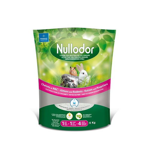 1HY06062 / NULLODOR LITIÈRE POUR CHATONS ET NACS  / 13.22Lb-6Kg