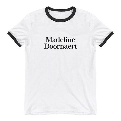 Madeline Doornaert (#003) - White Ringer T-Shirt