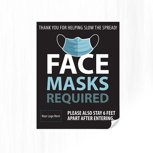 FACE MASKS REQUIRED DECAL