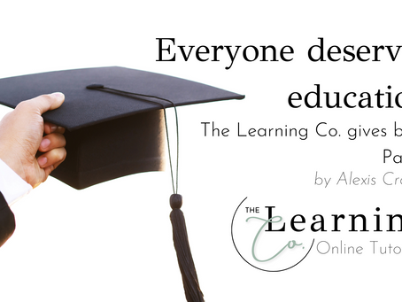 The Learning Co. Gives Back Part 2