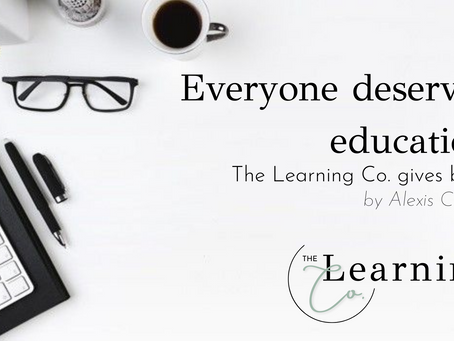 The Learning Co. gives back