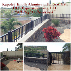 Aluminum Fence - Kapolei Knolls