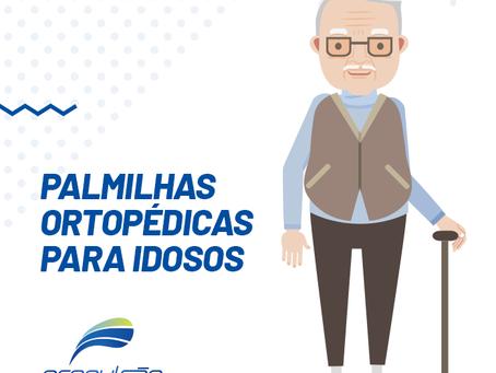 Quais aspectos devem ser considerados para prescrição de uma palmilha ortopédica para idosos?