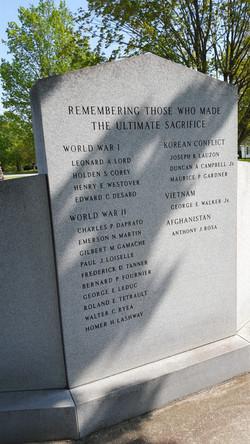 VT Monuments War Memorial Lettering